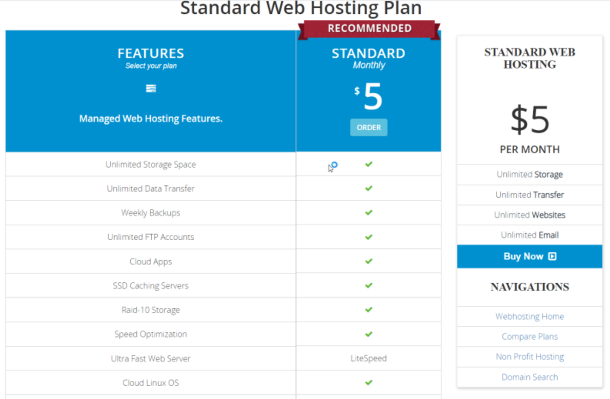 memilih shared hosting