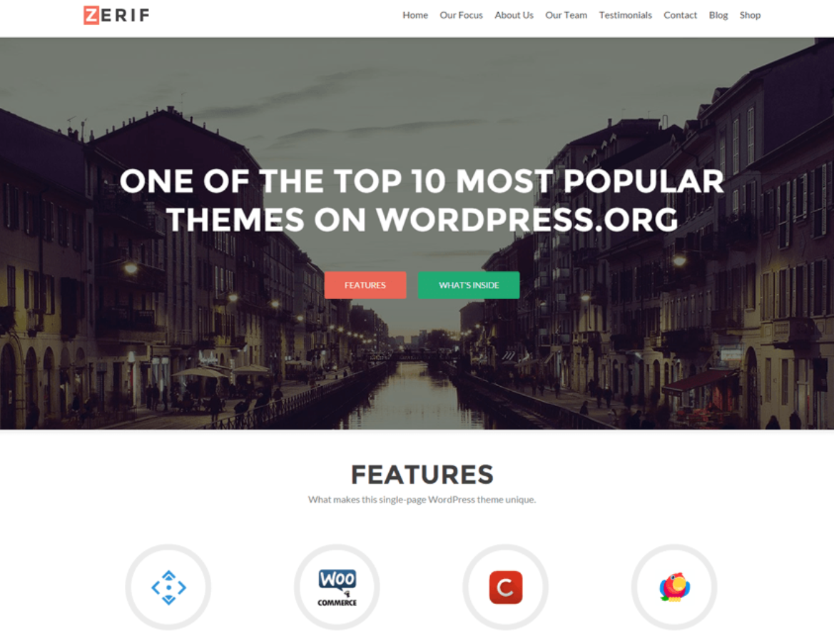zerif lite theme wordpress